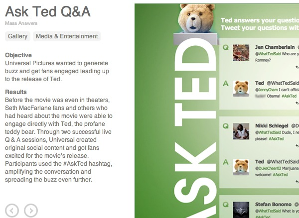 Ask Ted use case
