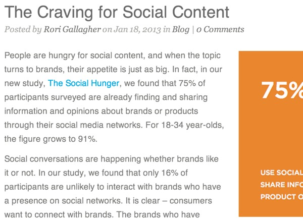 The Craving for Social Content