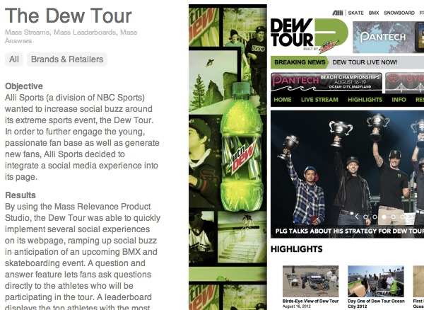 Dew Tour use case