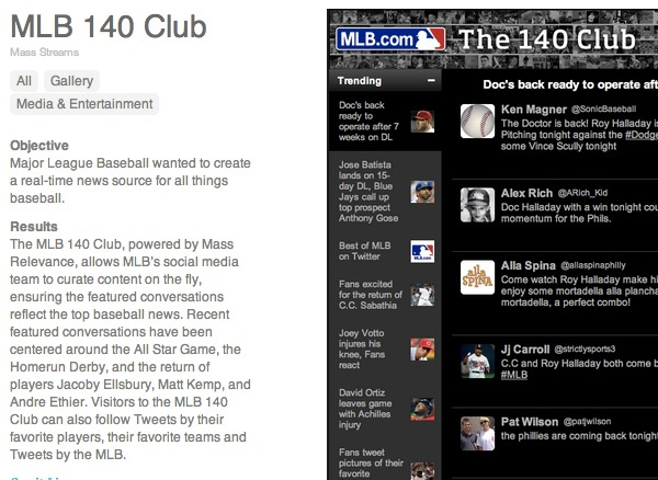 Major League Baseball newsletter article
