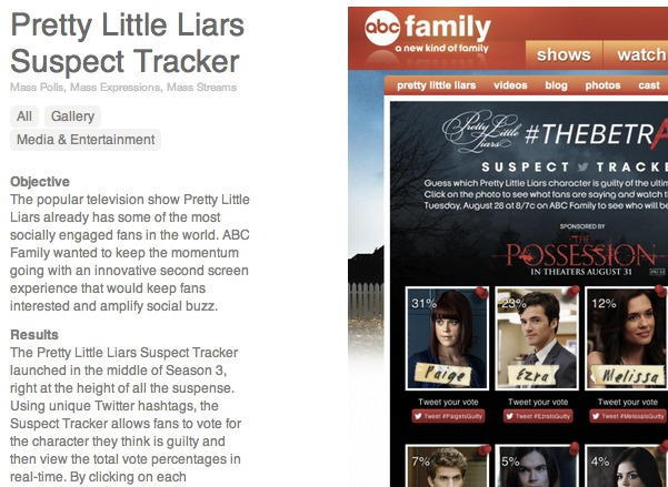 Pretty Little Liars use case