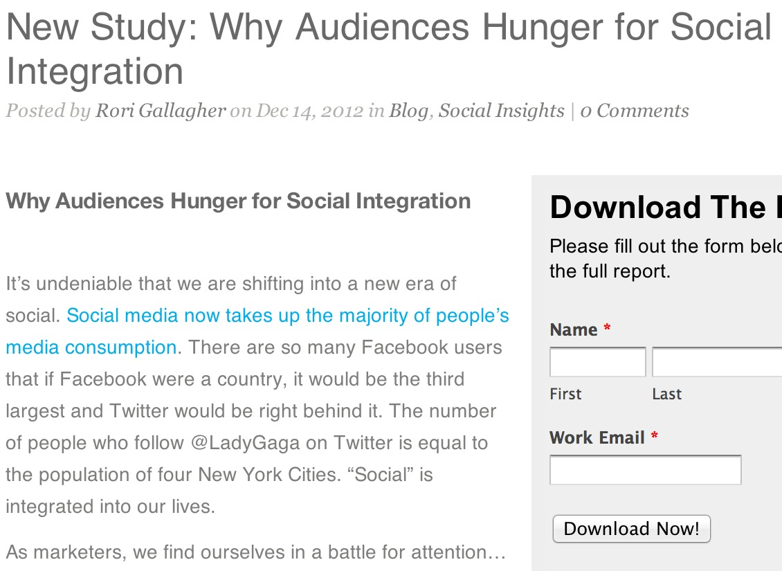 New Study: Why Audiences Hunger for Social Integration